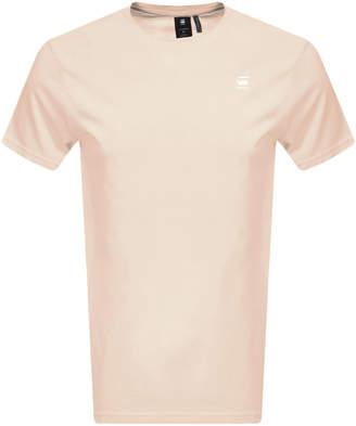 G Star Raw Lash Logo T Shirt Pink