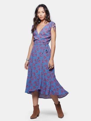 Band of Gypsies Crete Wrap Midi Dress