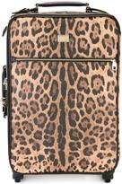 Dolce & Gabbana leopard print suitcase