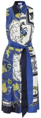 Salvatore Ferragamo Printed silk midi dress