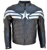Classyak Men's Captain Real Leather Winter Soldier Jacket Medium