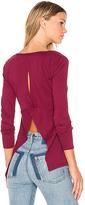 Bobi Light Weight Jersey Open Back Long Sleeve Top
