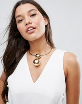 Asos Statement Ball Choker Necklace