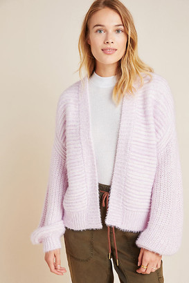 Anthropologie Tallulah Eyelash Cardigan By in Purple Size ALL