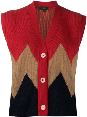 Jejia Chevron Colour Block Cardigan