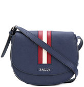 Bally striped trim cross body bag - women - Leather - One Size
