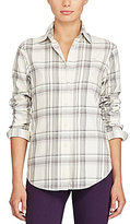 Lauren Ralph Lauren Petite Plaid Cotton Shirt