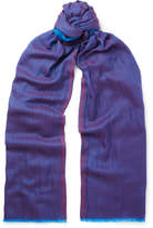 Etro Cashmere and Cotton-Blend Scarf