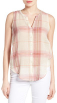 Lucky Brand Plaid Cotton Sleeveless Shirt