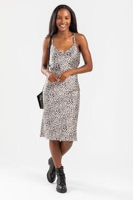francesca's Jade Cross Back Midi Dress - Ivory