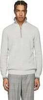 Lanvin Grey Half-zip Sweater