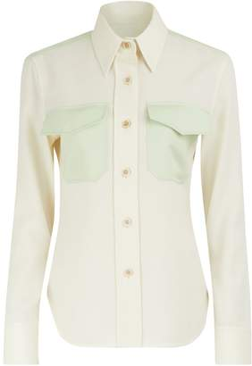 Calvin Klein Virgin wool uniform shirt