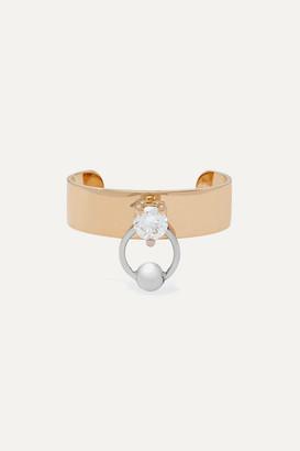 Delfina Delettrez 18-karat Yellow And White Gold Diamond Ear Cuff - one size