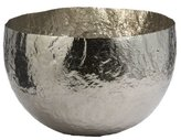 Lazy Susan Hammered Nickel Plated Brass Decorative Bowl