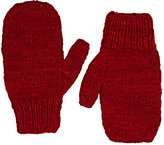 The Elder Statesman Women's Brushed Cashmere Mittens-RED