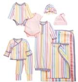 Rainbow Stripes 9-Piece Bundle Gift Set