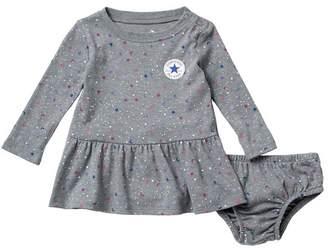 Converse Long Sleeve Galaxy Dress & Bloomers Set (Baby Girls 12-24M)