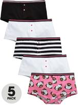 Very 5 Pk Pug Boyfriend Shorties