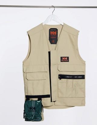 Helly Hansen Heritage unisex carpenter vest in khaki