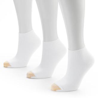 Gold Toe GOLDTOE 3-pk. Ribbed Quarter Socks - Women