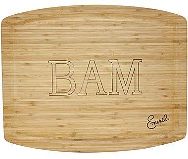 """Emerilware Emeril® """"BAM"""" 20""""x16"""" Bamboo Wood Cutting Board"""