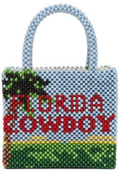 Shrimps Earl Florida Cowboy Faux-pearl Embellished Bag - Multi