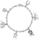 Fred Leighton - Art Deco Platinum Multi-stone Charm Bracelet