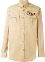 DSQUARED2 plain logo brooch shirt