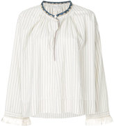 Forte Forte striped blouse with fringe cuff sleeves