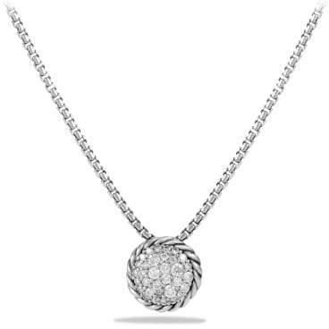 David Yurman Petite Pave Pendant Necklace With Diamonds