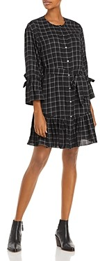 Rebecca Taylor La Vie Long Sleeve Check Dress