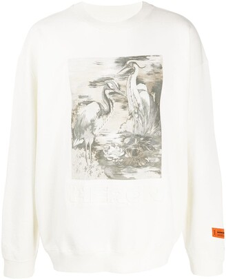 Heron Preston Bird Front Print Sweatshirt