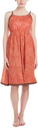 Letarte Coral Chambray Cover-Up Dress