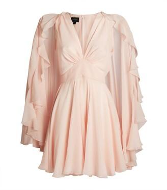 Giambattista Valli Ruffle Cape Mini Dress