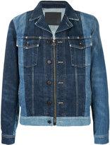 Lanvin panelled denim jacket