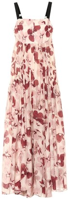 Lee Mathews Exclusive to Mytheresa Lucinda floral cotton and silk dress