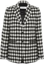 Max Mara Checked Textured-felt Blazer - Black
