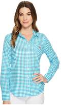 U.S. Polo Assn. Woven Plaid Blouse