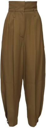 Givenchy High Waist Viscose Cargo Pants