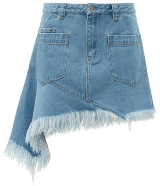 Marques Almeida Marques'almeida - Asymmetric Denim Skirt - Womens - Denim