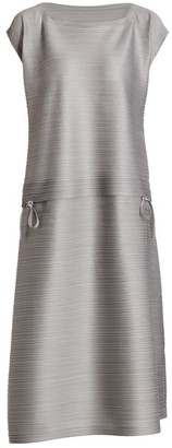 Pleats Please Issey Miyake Stone Gradation Midi Dress