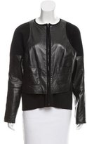 Kaufman Franco Kaufmanfranco Leather-Accented Knit Jacket