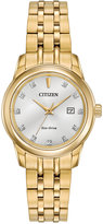 Citizen Women's Pairs Diamond Accent Gold-Tone Stainless Steel Bracelet Watch 28mm EW2392-54A