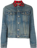 Junya Watanabe Comme Des Garçons plaid collar denim jacket
