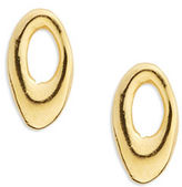 Uno de 50 Gilded Circle Stud Earrings