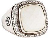 David Yurman Diamond & White Agate Albion Ring