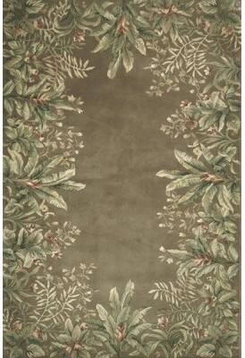 "Bay Isle Home Marion Floral Hand-Tufted Wool Taupe Area Rug Rug Size: Rectangle 9'3"" x 13'3"""