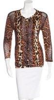 Christian Dior Leopard Print Knit Cardigan
