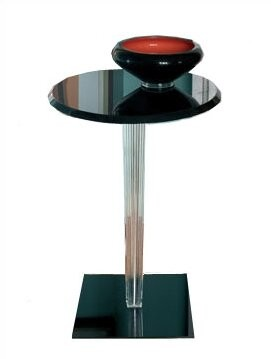 Kartell Top Top End Table Leg Style: Rounded, Top: Round, Color: Glossy Black
