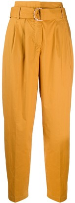 8pm Belted Tapered-Leg Trousers